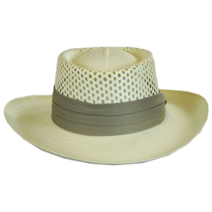 Gambler Straw Hat: Scala Vent Crown Toyo Straw Gambler Hat Straw Hats