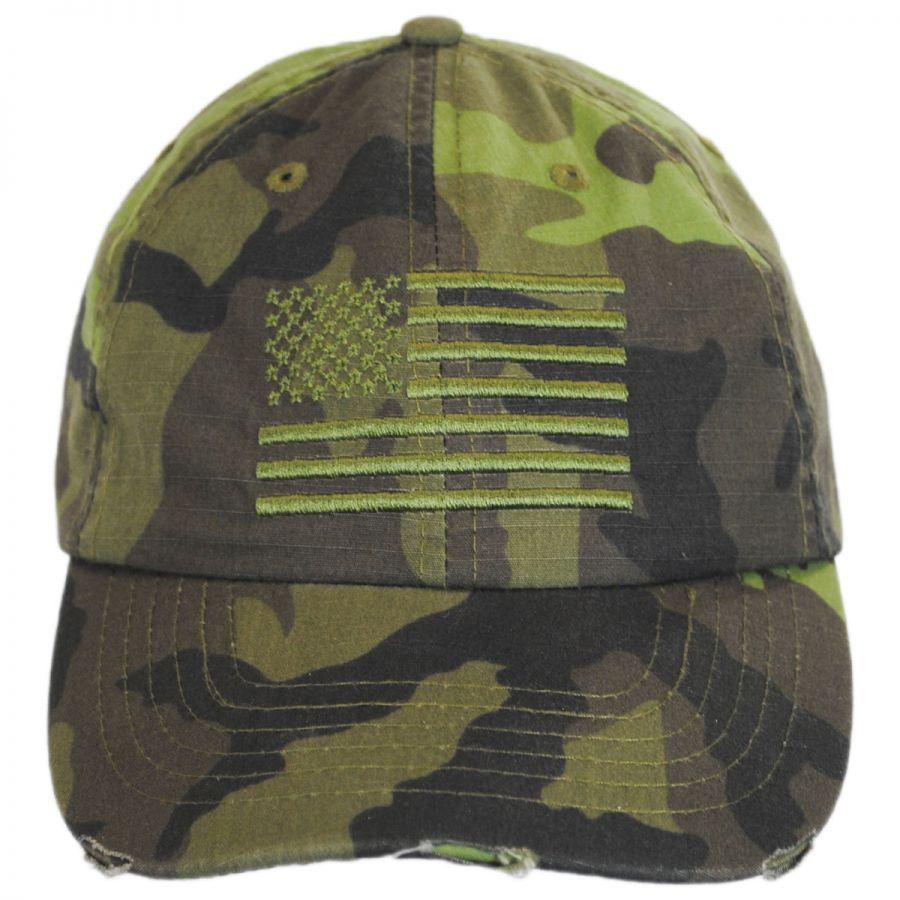 9e393c96 Dorfman Pacific Company US Flag Camo Strapback Baseball Cap Dad Hat ...