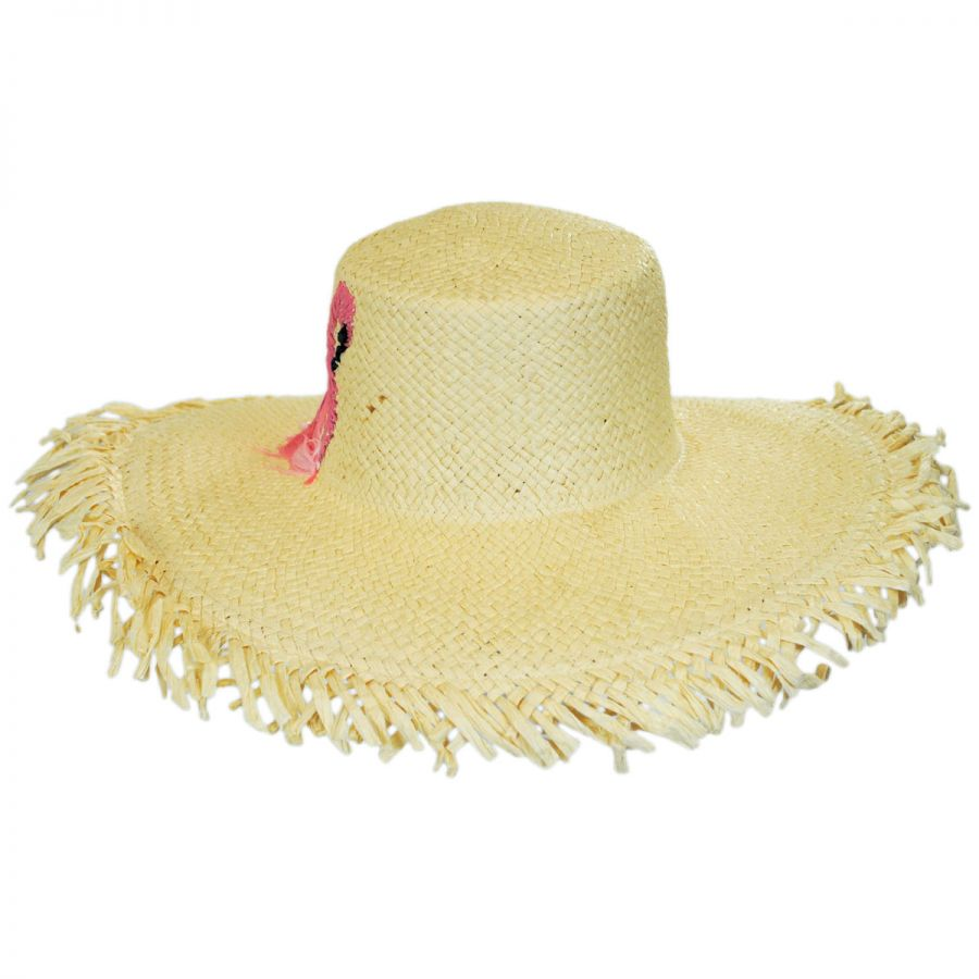 San Diego Hat Company Flamingo Toyo Straw Floppy Hat Sun Hats 97fbd1d21
