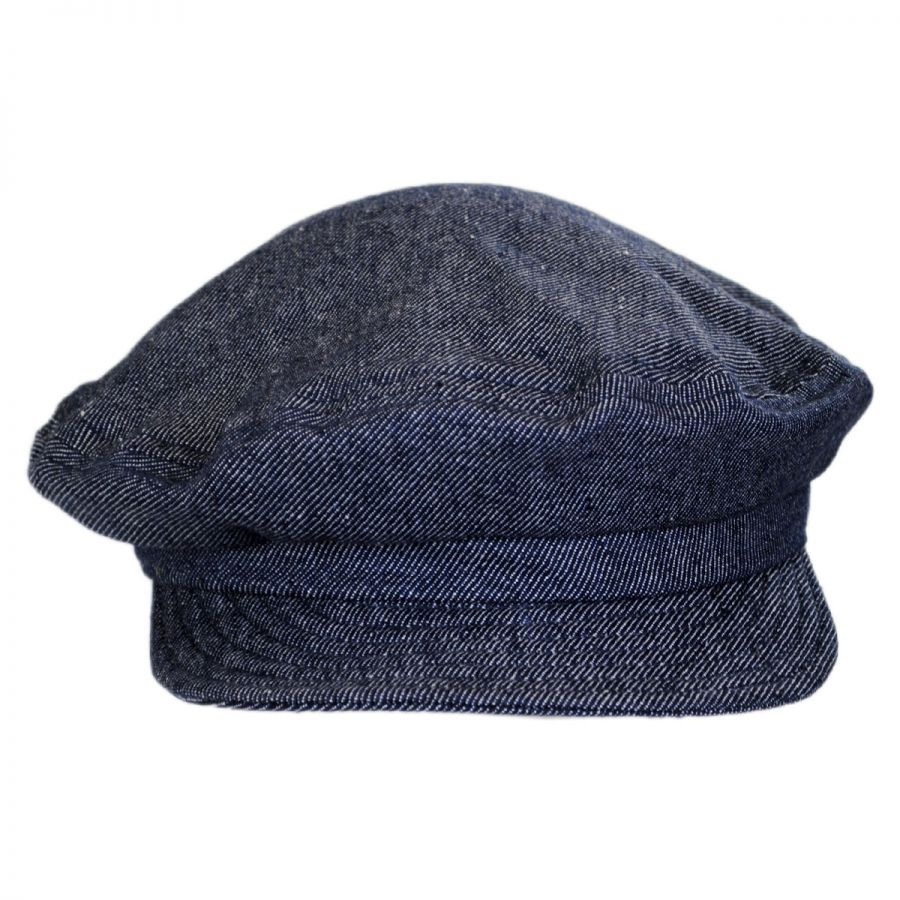 Brixton Hats Unstructured Linen and Cotton Fiddler Cap Greek ... 47d7db526ba7