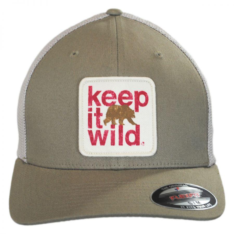 2f0e74e1c4b57 Columbia Sportswear Keep It Wild Flexfit Mesh Fitted Baseball Cap ...