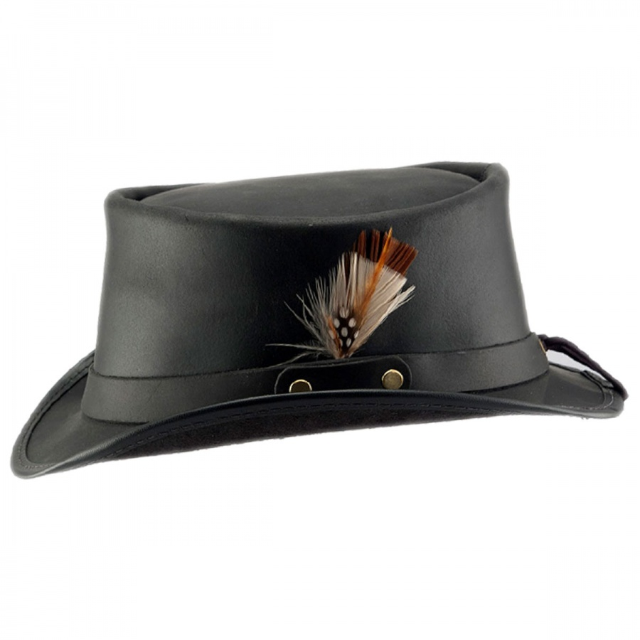 23d51f4c9c0cd Head  N Home Marlow Leather Top Hat Top Hats