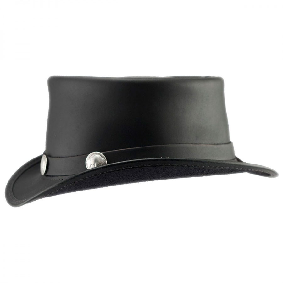 Head  N Home El Dorado Leather Top Hat Top Hats df0943adce1
