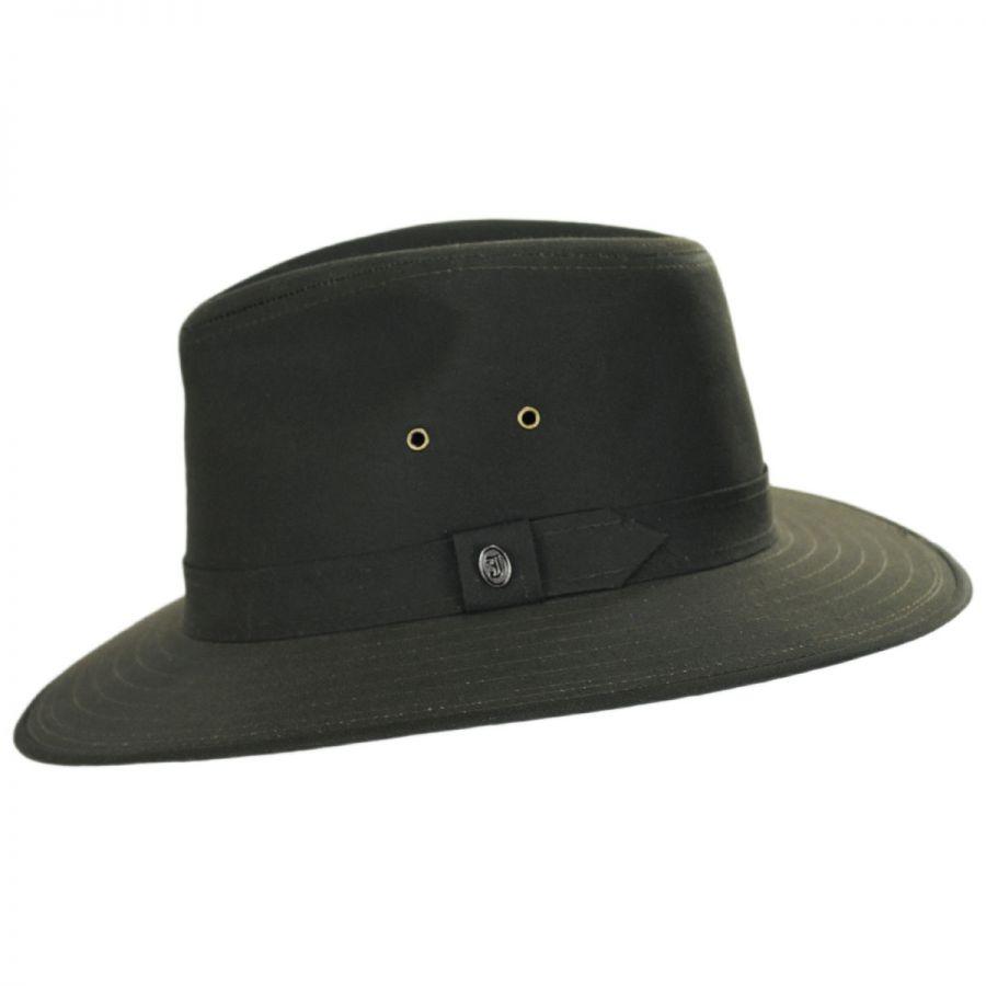 Jaxon Hats Cotton Oilcloth Safari Fedora Hat Fabric 29270f31b820