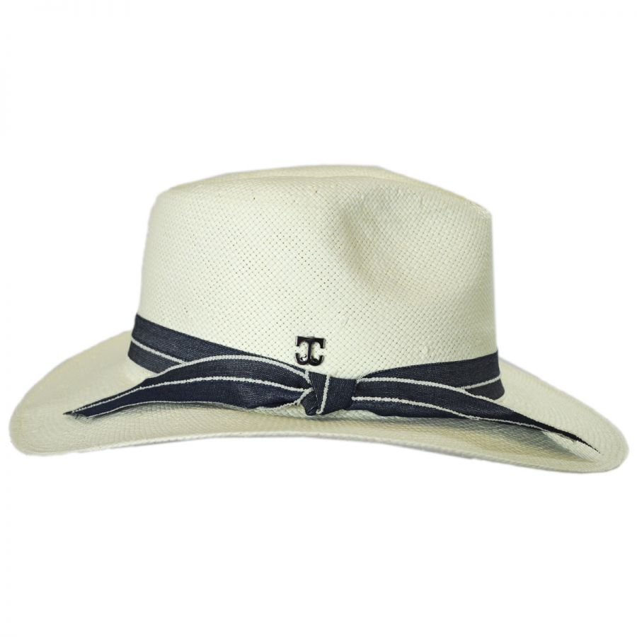 b4fc0a5d5fd Callanan Hats Denim Band Toyo Straw Fedora Hat Fedoras