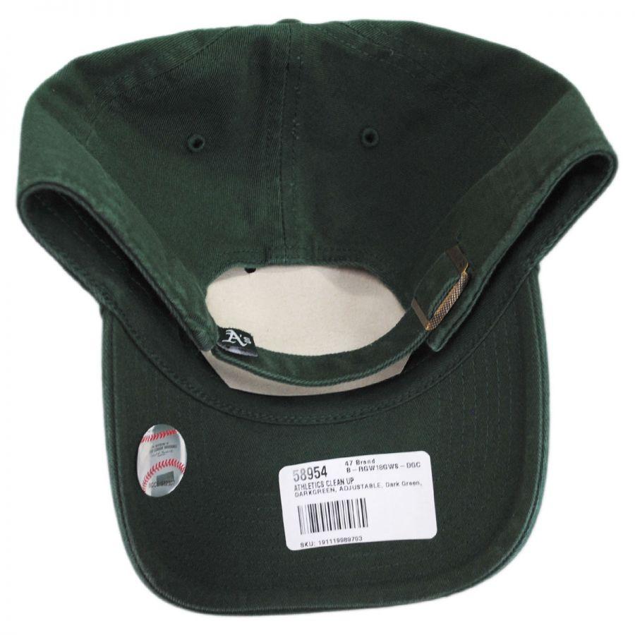 4a3fb268e05 Oakland Athletics MLB Clean Up Strapback Baseball Cap Dad Hat II in · 47  Brand