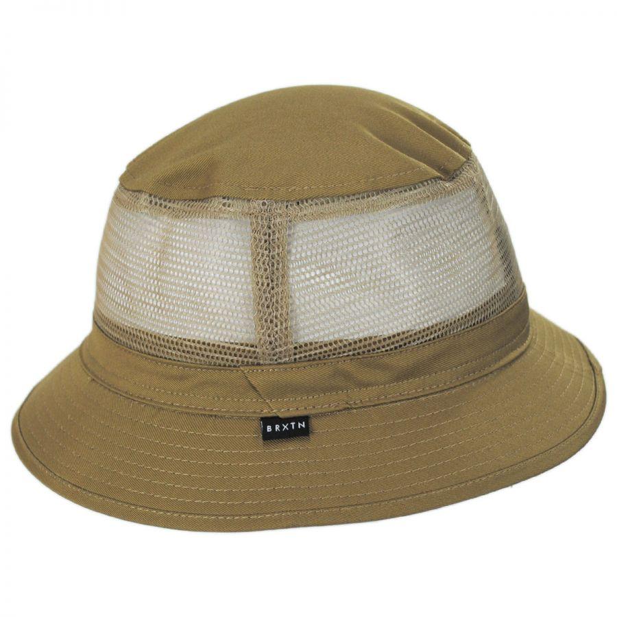 Brixton Hats Hardy Cotton and Mesh Bucket Hat Bucket Hats 376c5eeb1a8d
