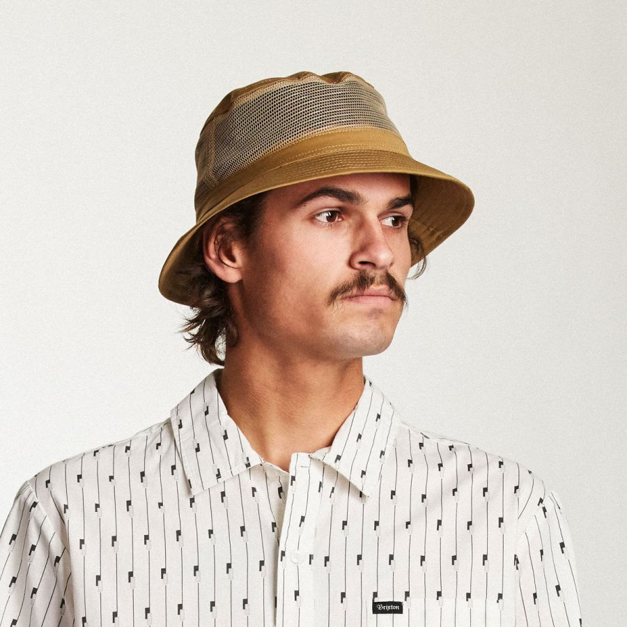 0b22363bc170b6 Brixton Hats Hardy Cotton and Mesh Bucket Hat Bucket Hats