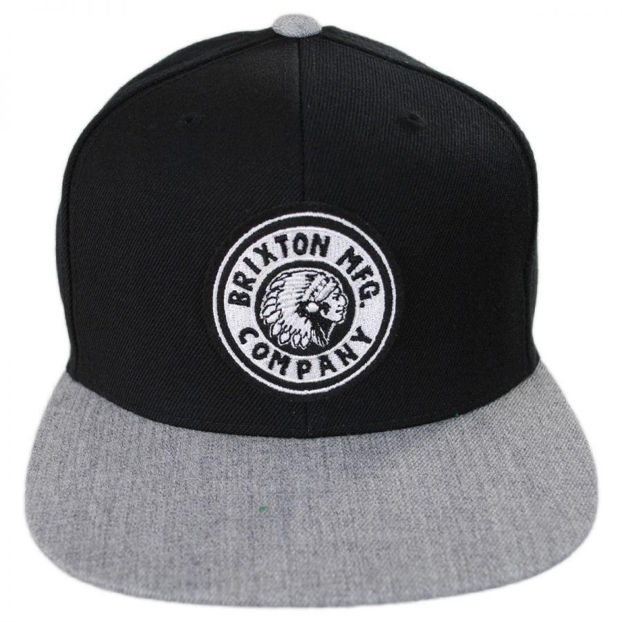 8a684897bf785 Brixton Hats Rival Snapback Baseball Cap Snapback Hats
