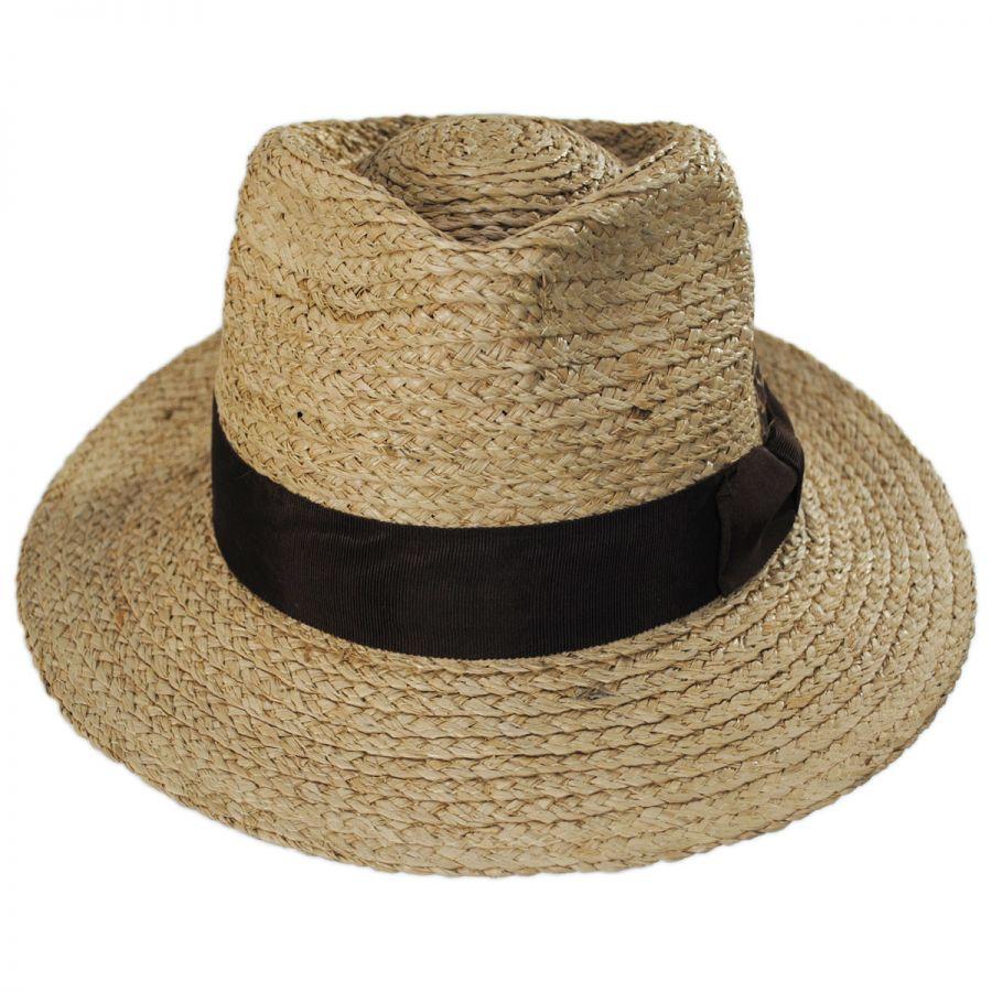 Brixton Hats Crosby Raffia Straw Fedora Hat Straw Fedoras 8b8349933b90