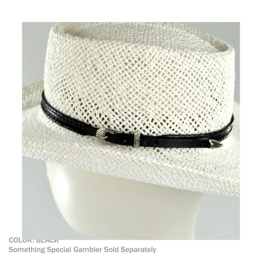 6e4bbd12d14 Head  N Home Whipstitch Buckle Leather Hat Band Hat Bands