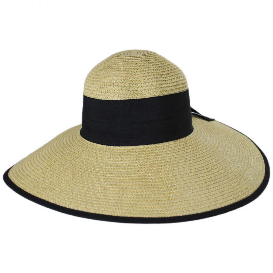 1131a4fb Jeanne Simmons Black Bow Toyo Straw Sun Hat Sun Hats