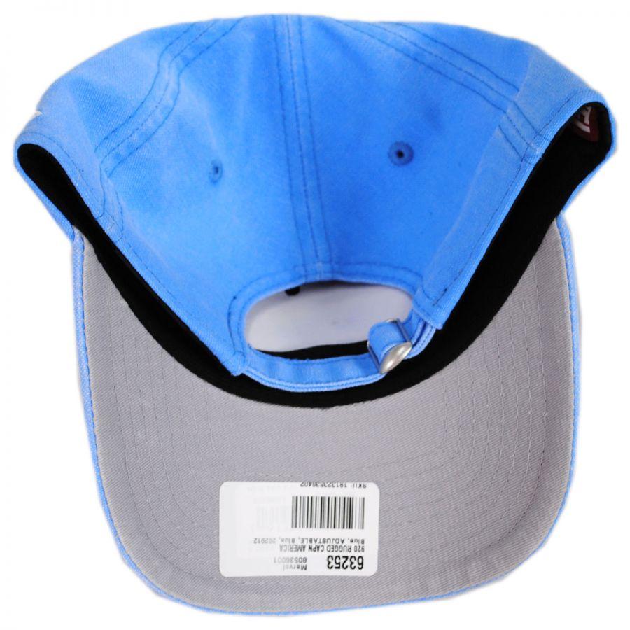 Marvel Captain America Rugged 9Twenty Strapback Baseball Cap Dad Hat in · New  Era c53a427d4f71