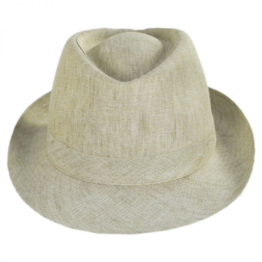 9d92bb2d6bfd8 Stetson Linen Delave Trilby Fedora Hat Fabric
