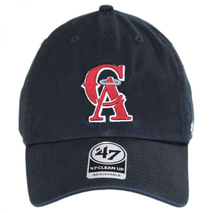 new arrival d61b8 c3b4c Los Angeles Angels of Anaheim MLB Cooperstown Clean Up Strapback Baseball  Cap Dad Hat in