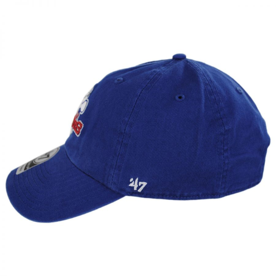 7f7f9b9201c Texas Rangers MLB Cooperstown Clean Up Strapback Baseball Cap Dad Hat in