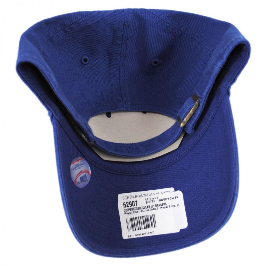 0cf2b5d642d Texas Rangers MLB Cooperstown Clean Up Strapback Baseball Cap Dad Hat in · 47  Brand