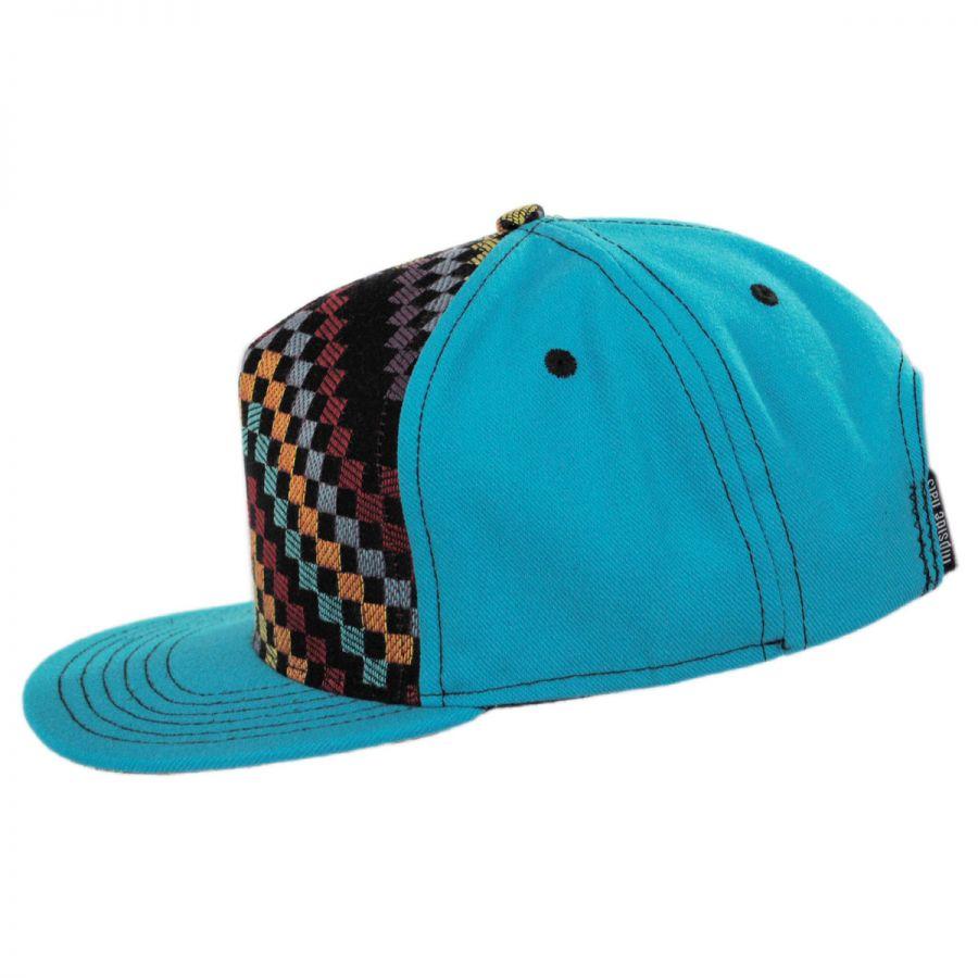Flipside Teal Checkered Snapback Baseball Cap Snapback Hats a2f1c7fbfa8