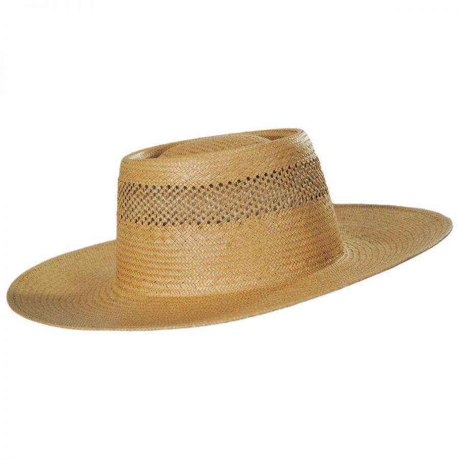 Gambler Straw Hat: Brixton Hats Trinidad Toyo Straw Gambler Hat Straw Hats