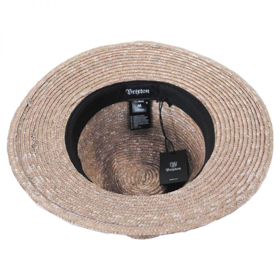 Brixton Hats Lera Straw Fedora Hat Fedoras 92fc009ec48