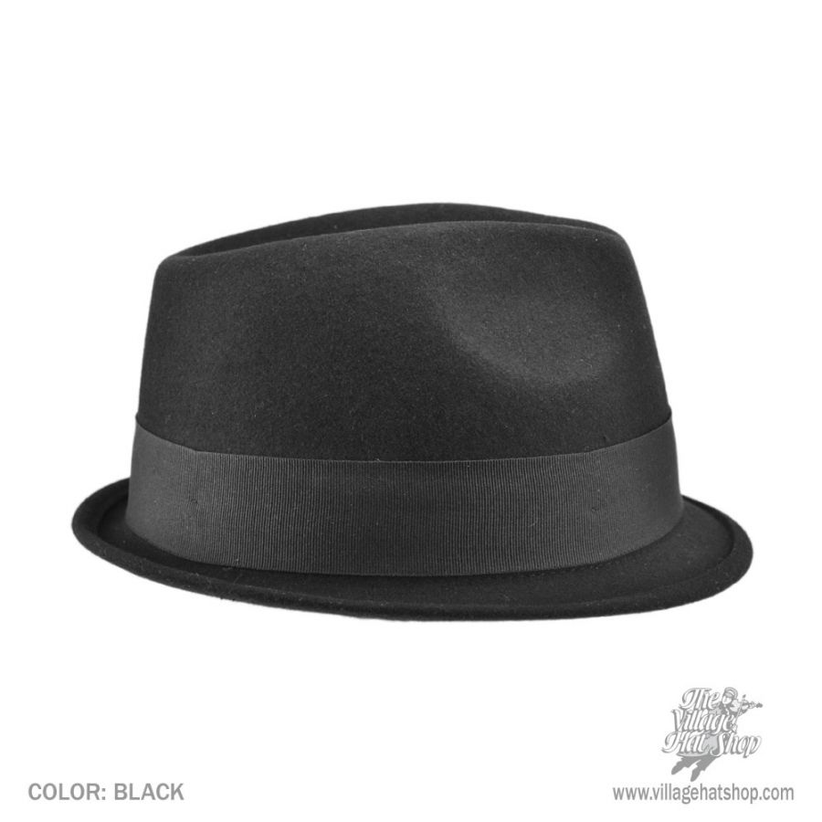 Jaxon Hats Dekker Crushable Wool Felt Trilby Fedora Hat Crushable e4a6c7295b0