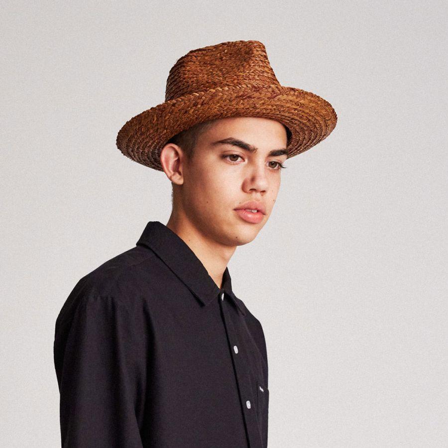 f2403247bab22 Brixton Hats Crosby Raffia Straw Fedora Hat Straw Fedoras