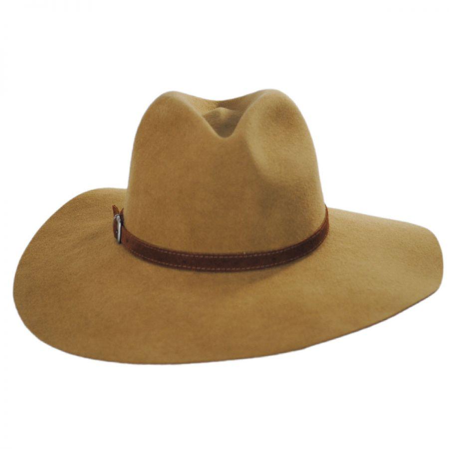 Bigalli Sophie Wool Felt Rancher Fedora Hat Casual Hats a5d23dc8582