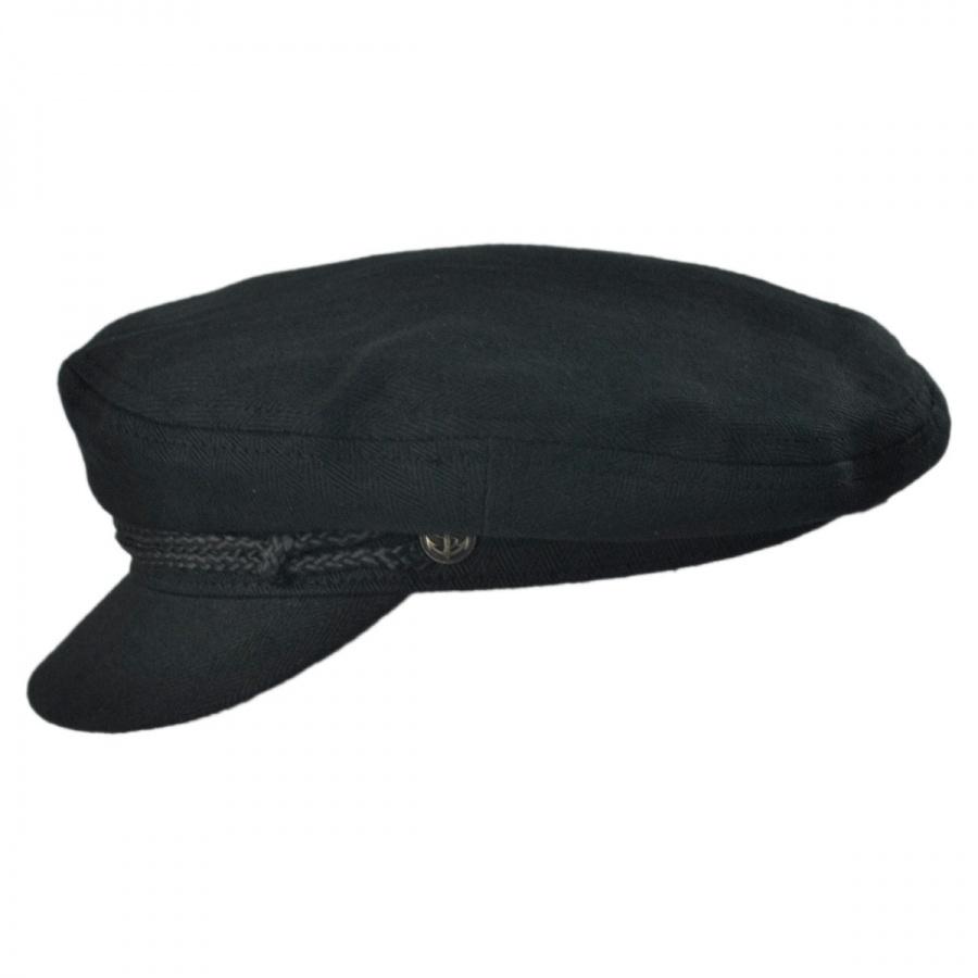 f74818cf4a5 Brixton Hats Herringbone Cotton Fiddler Cap Greek Fisherman Caps