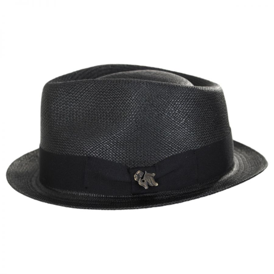 668f2297fbbbd Bigalli Boston Panama Straw Trilby Fedora Hat Panama Hats