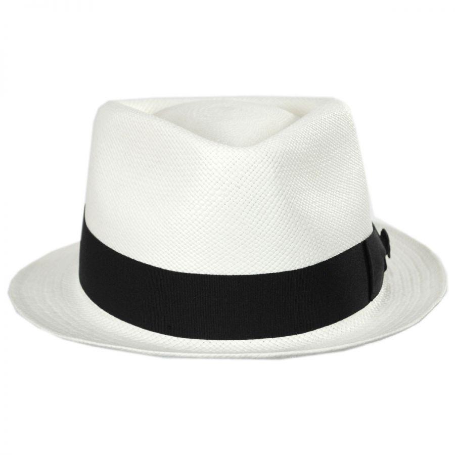 Bigalli Boston Panama Straw Trilby Fedora Hat Panama Hats 8694ed2e7b8