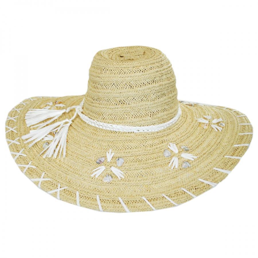 San Diego Hat Company Shell Whipstitch Toyo Straw Floppy Hat Sun Hats 5382c735072