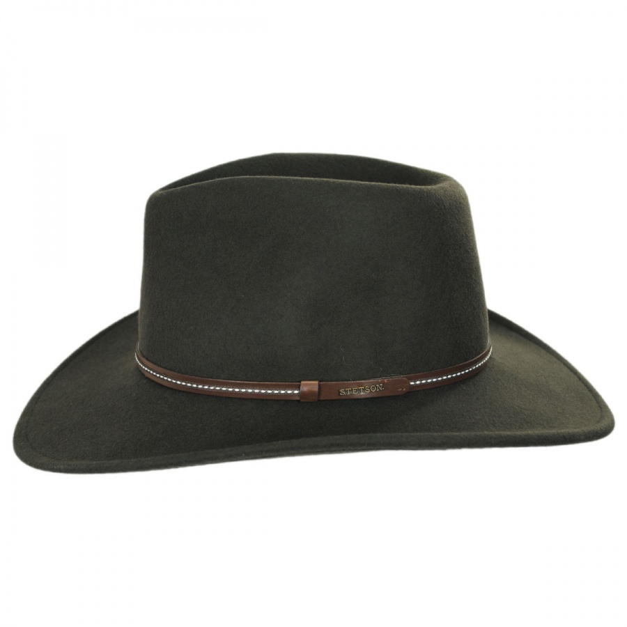 6cd8f387b82 Stetson Gallatin Crushable Wool Felt Outback Hat Crushable