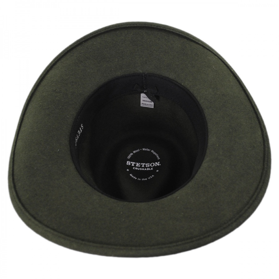 bf4df2720a70f Stetson Gallatin Crushable Wool Felt Outback Hat Crushable
