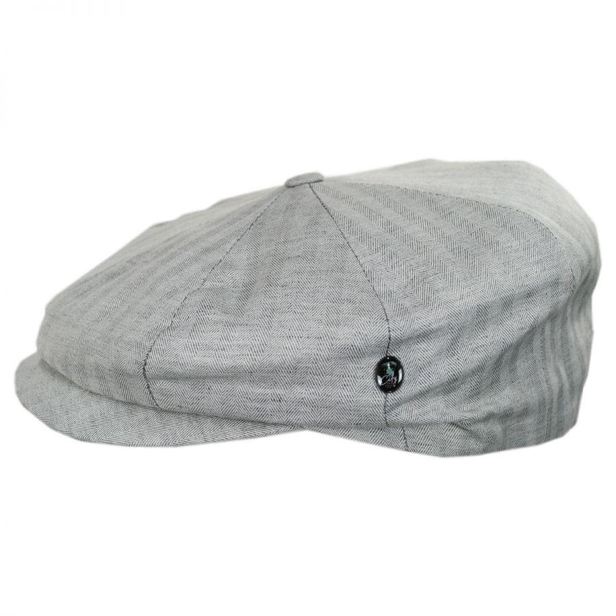 City Sport Caps Summer Herringbone Linen and Cotton Newsboy Cap ... dbb439c4f7d
