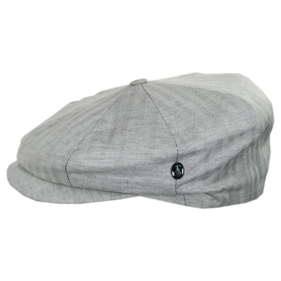 6b95d7dc6fd City Sport Caps Summer Herringbone Linen and Cotton Newsboy Cap ...