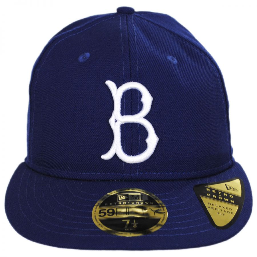 New Era Brooklyn Dodgers MLB Retro Fit 59Fifty Fitted Baseball Cap ... 44a69ccb834