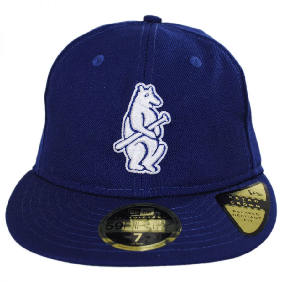 697e01303ca New Era Chicago Cubs MLB Retro Fit 59Fifty Fitted Baseball Cap MLB ...