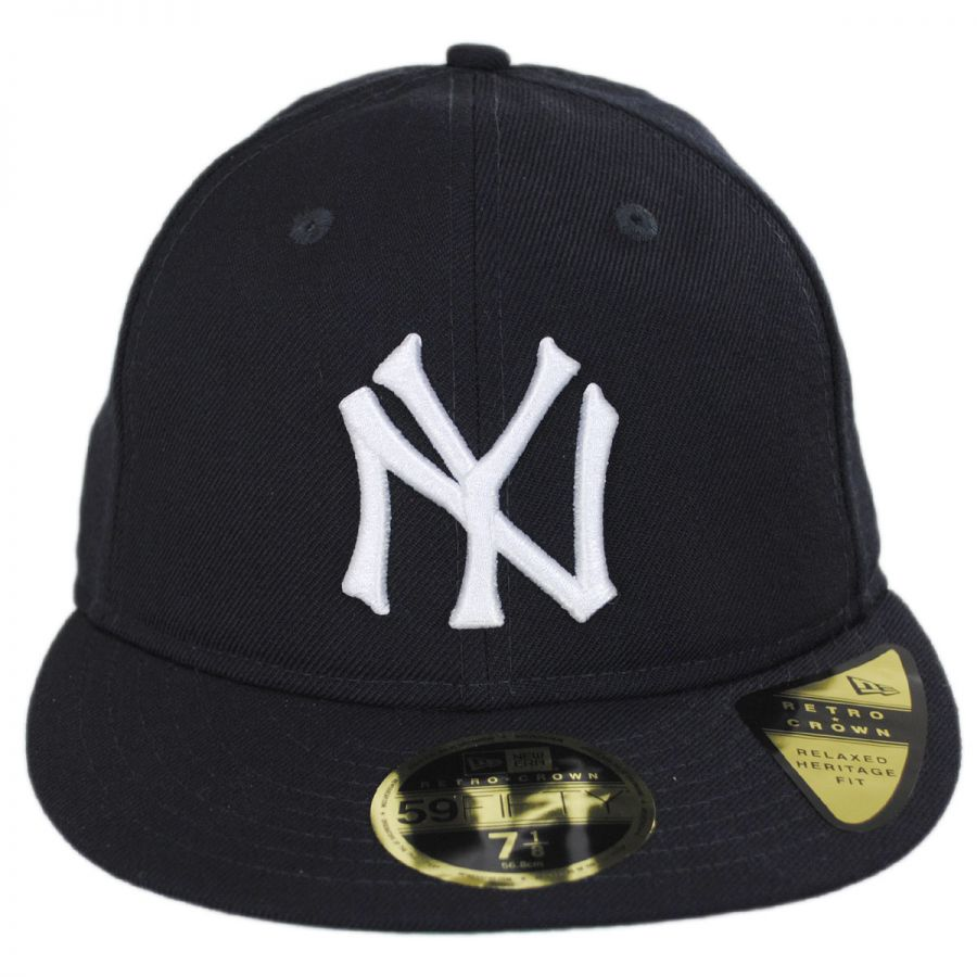 488dc6e6a47 New Era New York Yankees MLB Retro Fit 59Fifty Fitted Baseball Cap ...