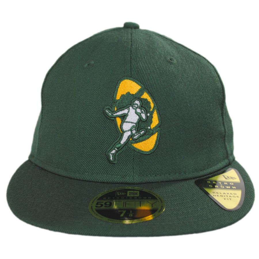721c3a9aa0b New Era Green Bay Packers NFL Retro Fit 59Fifty Fitted Baseball Cap ...