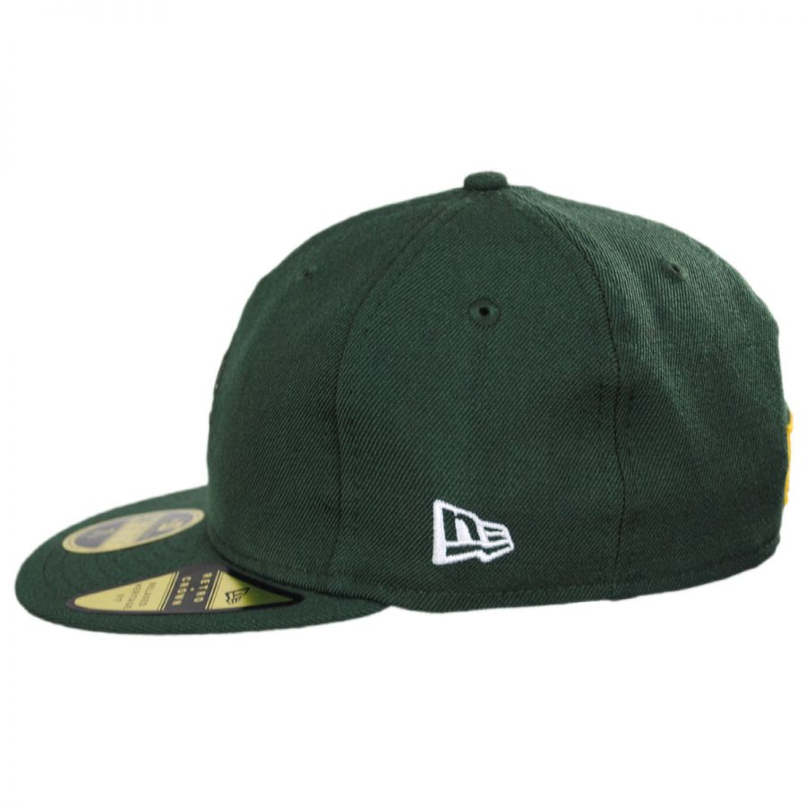 ... hot green bay packers nfl retro fit 59fifty fitted baseball cap in  c6192 bc56a ... 7a9afc48a
