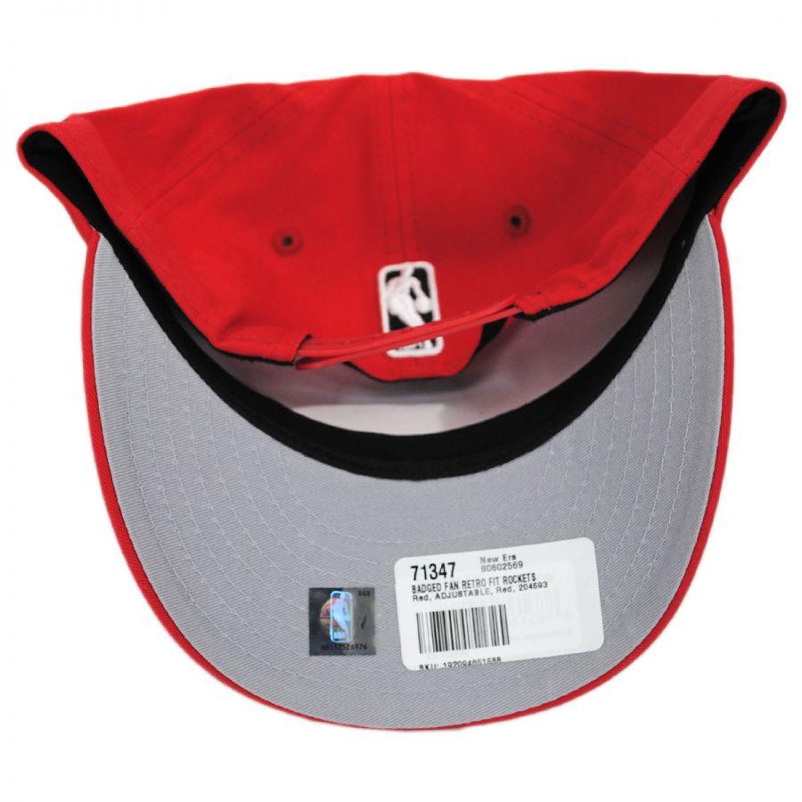 newest 08887 23256 Houston Rockets NBA Badged Fan 9Fifty Snapback Baseball Cap in · New Era