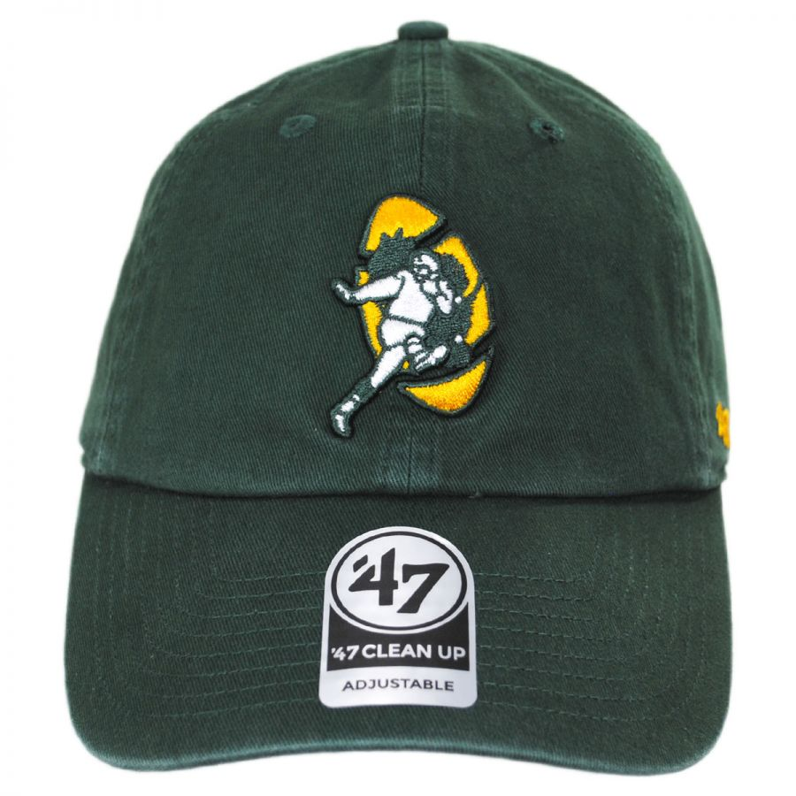 83f66ea96a4f9 Green Bay Packers NFL Clean Up Legacy Strapback Baseball Cap Dad Hat in