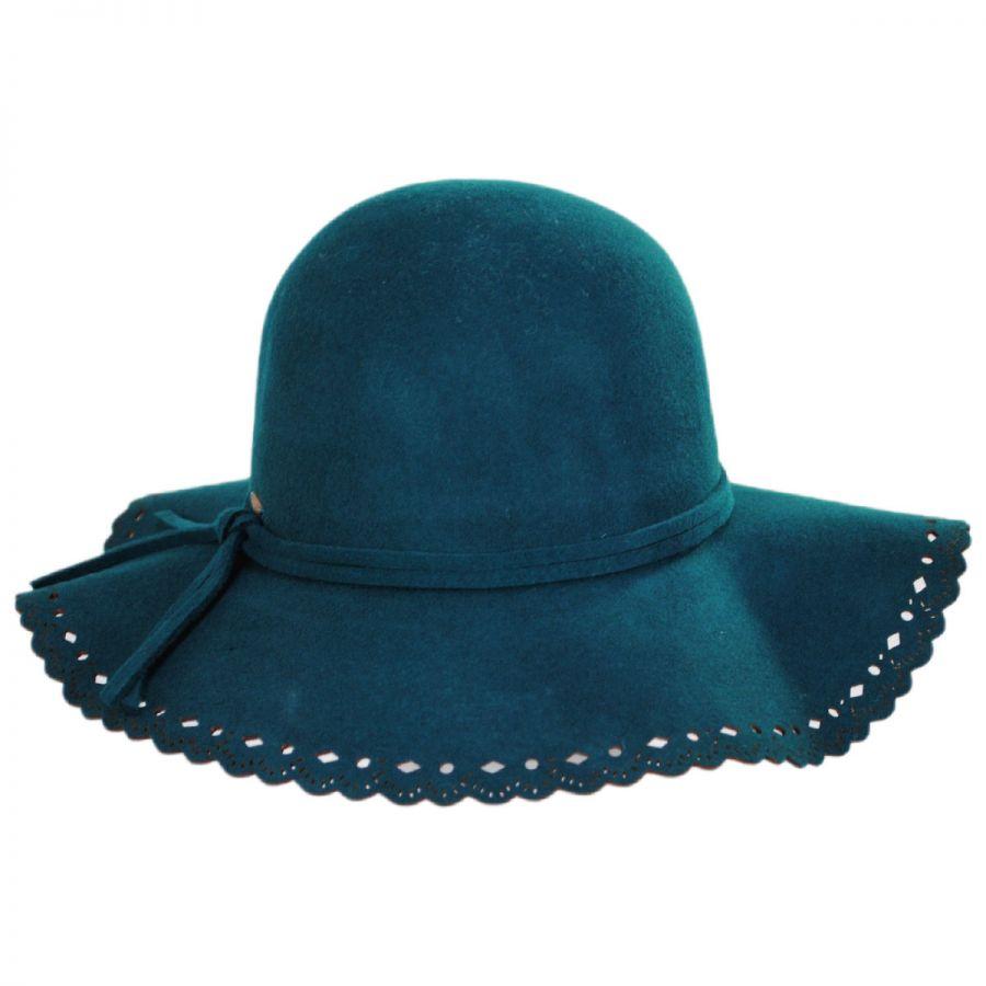 Scala Floppy Lacey Edge Wool Swinger Hat Casual Hats 2b9b6f2ab