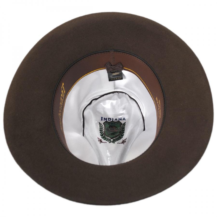 Indiana Jones Officially Licensed Fur Felt Fedora Hat All Fedoras 48aeac743ef