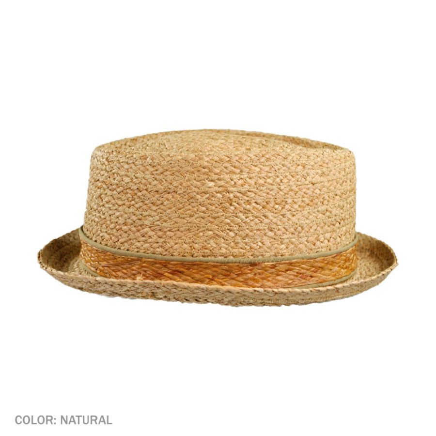 b305cf9a Jaxon Hats Raffia Straw Diamond Crown Fedora Hat Pork Pie Hats