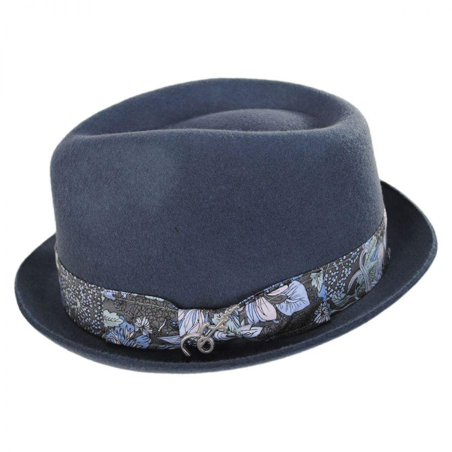 6ff6212f3 Accord Wool Teardrop Stingy Brim Fedora Hat