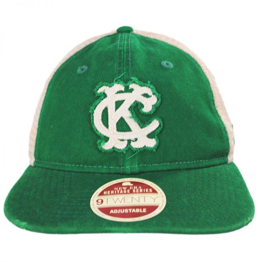 New Era Kansas City Athletics 1965-1967 Strapback Trucker Baseball ... 2c5ea6acf16