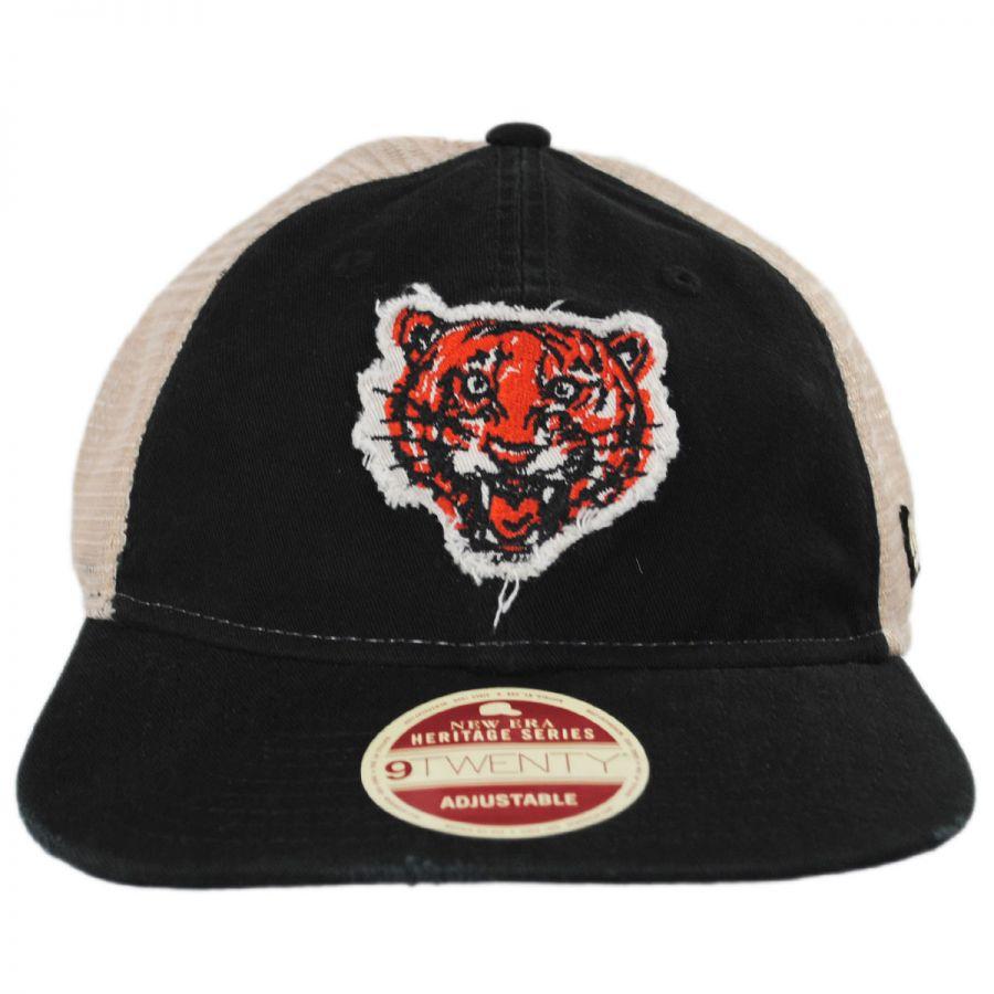 New Era Detroit Tigers 1957-1960 Strapback Trucker Baseball Cap MLB ... 5b12f21acfc