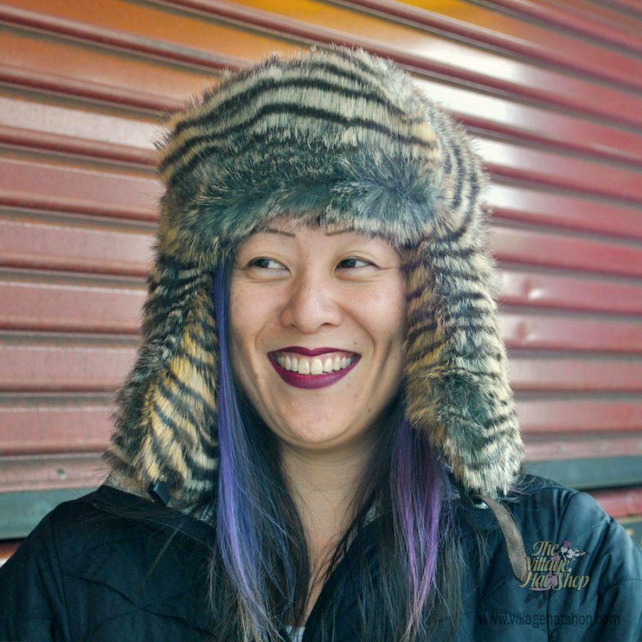 Jaxon Hats Wolverine Faux Fur Trapper Hat Cold Weather f63c3903c23