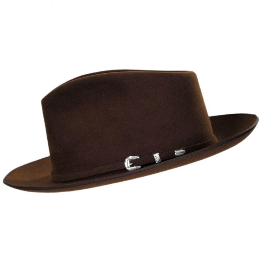 9edab6996 Stetson G. D. Rye Firm Fur Felt Fedora Hat All Fedoras